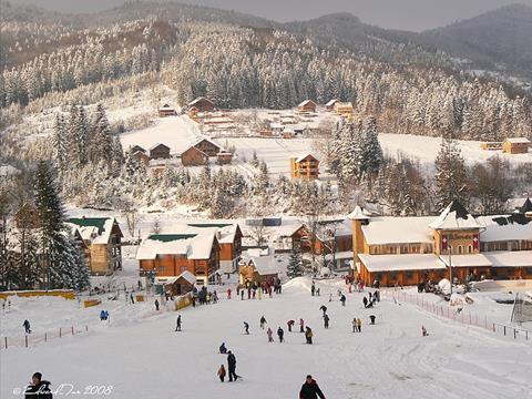 Mihovo: accommodation, hotels, hills, trails, map, photo. Ski resort on